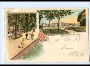 S1817/ Gruß aus Eckernförde-Borby Litho AK 1899