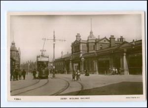 XX004267/ Großbritannien Derby Midland Railway Straßenbahn Foto AK