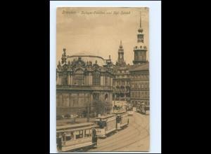 XX004150/ Dresden Zwinger-Pavillon und Kgl. Schloß Straßenbahn 1909 AK