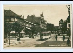 XX004484/ Dresden Bad Weisser Hirsch Straßenbahn Foto AK 1934