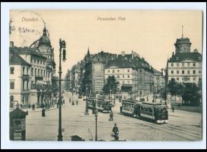 XX004140/ Dresden Pirnaischer Platz Straßenbahn 1914 AK