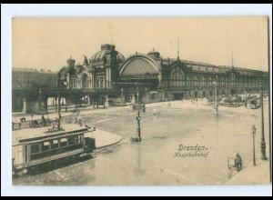 XX004136/ Dresden Hauptbahnhof Straßenbahn AK