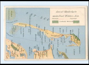XX004480-185./ Insel Hiddensee Wanderkarte AK 1930