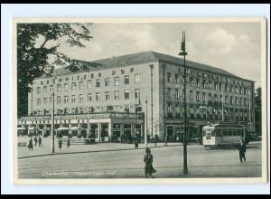 XX004138/ Chemnitz Chemnitzer Hof Straßenbahn AK