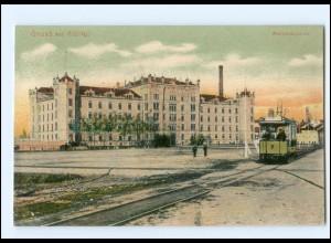 XX004124-027/ Zittau Mandankaserne Straßenbahn AK 1917