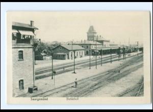XX004107/ Saargemünd Sarreguemines Bahnhof AK ca.1920 Elsaß