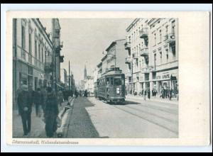 XX004108/ Litzmannstadt Lodz Holsteinerstr. Straßenbahn AK ca.1940