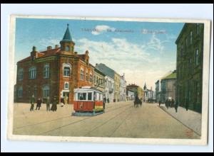 XX004114/ Tarnow Krakauerstr. Straßenbahn AK Polen 1915