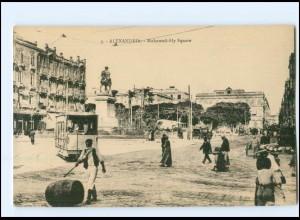 XX004486/ Alexandria - Mohamed-Aly Square Straßenbahn AK ca.1912 Ägypten