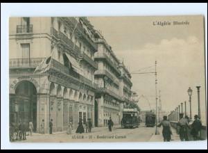 XX004487/ Alger Boulevard Carnot Straßenbahn AK Algerien ca.1912
