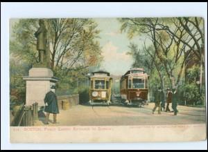 XX004577/ Boston Public Garden Subway Straßenbahn AK 1906 USA
