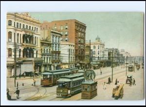 XX004490/ New Orleans Canal Street Tram Straßenbahn USA AK ca.1910