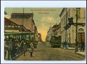 XX004327/ Porte Alegre Straßenbahn Rua Marechal Floriano Peixoto AK Brasilien