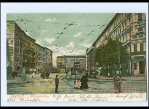 XX004235/ Rixdorf Hermannplatz Straßenbahn 1904 AK
