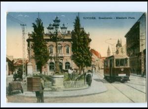 XX004262/ Serbien Ujvidek Elisabeth Platz Straßenbahn 1917 AK