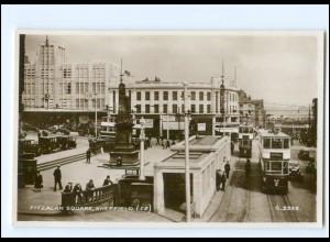 XX004265/ Großbritannien Sheffield Fitzalan Square Straßenbahn Foto AK