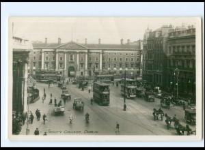 XX004269/ Irland Dublin Trinity College Straßenbahn Foto AK