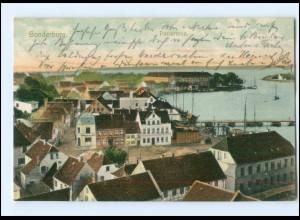 Y10997/ Sonderburg Panorama Nordschleswig AK 1906