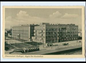 U4786/ Litzmannstadt Lodz Polen August-Bier-Krankenhaus Straßenbahn AK ca.1940