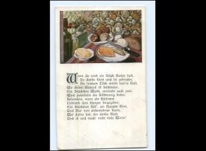 Y11282/ Stilleben Butter Käse Wurst 1918 AK