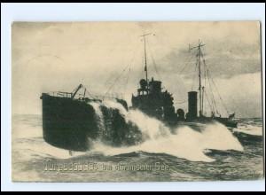 Y11147/ Torpedoboot 1. Weltkrieg AK + Marine Schiffspost Nr. 38