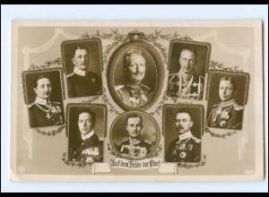Y11283/ Kaiser Wilhelm Auf dem Felde der Ehre! 1. Weltkrieg NPG Foto AK