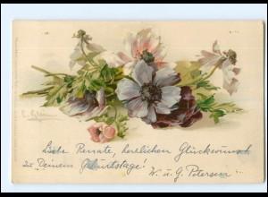"""U4850/ C. Klein Litho AK Blumen Meissner & Buch """"Aus Feld und Garten"""" ca.1900"""