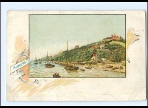 U4821/ Hamburg Blankenese Süllberg Litho AK ca.1900