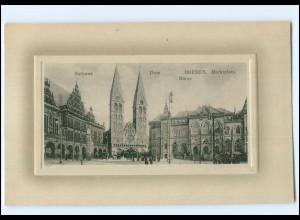 Y11203/ Bremen Rathaus Dom Börse Marktplatz AK