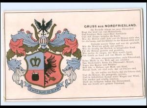 Y11284/ Gruß aus Nordfriesland Wappen AK 1937