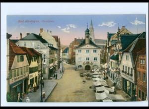 Y11179/ Bad Kissingen Marktplatz 1917 AK