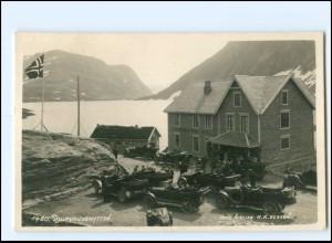 U4830/ Djupvandshytten Hotel Autos Norwegen Foto AK 1930