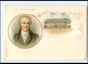 Y11110/ Johann Wolfgang von Goethe Litho AK ca.1900
