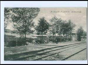 Y11103/ St. Souplet Unterstände 1. Weltkrieg AK Frankreich ca.1915