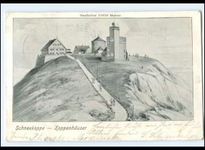 U4828/ Schneekoppe Koppenhäuser Riesengebirge AK 1903 Schlesien