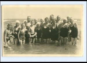 Y11418/ Badeleben schöne Foto AK ca.1925