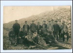 Y11410/ Berufe Gleisarbeiter Privat Foto AK ca.1912