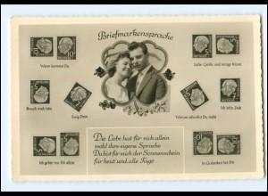Y11383/ Briefmarken-Sprache Heuss-Marken Foto AK ca.1955