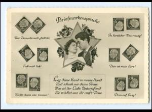 Y11385/ Briefmarken-Sprache Heuss-Marken Foto AK ca.1960