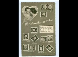 Y11386/ Briefmarken-Sprache Heuss-Marken Foto AK ca.1955