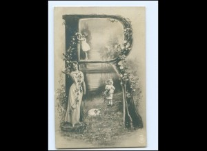 "Y11378/ Buchstaben NPG Foto Ak ""R"" 1904"