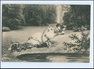 Y11365/ Junge Frau Foto Fotomontage AK 1907