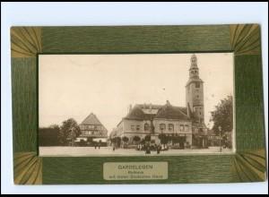U4912-396./ Gardelegen Rathaus Hotel Deutsche Haus Passepartout AK 1909