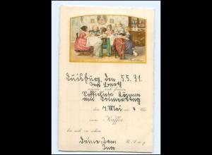 U5362/ Pauli Ebner Litho AK Einladung zum Kaffee 1931 Verlag: Dondorf