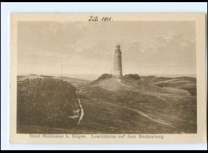 U5082-185./ Hiddensee bei Rügen Leuchtturm auf dem Backenberg AK