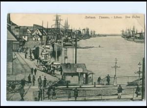 U4896/ Libau Hafen Lettland AK 1916