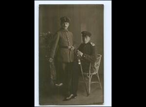 Y11966/ Soldaten Regiment 45 Foto AK ca.1915