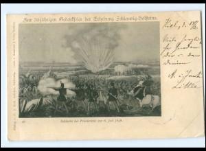 Y12458/ Schleswig-Holstein Erhebung 50jährige Gedenkfeier AK 1898