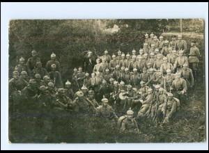 Y11442/ Soldaten mit Pickelhaube Regiement 168 Foto AK 1. Weltkrieg
