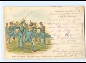 Y11467/ Histor. Uniformen des k. Bayer. Heeres 1800/73 Litho AK